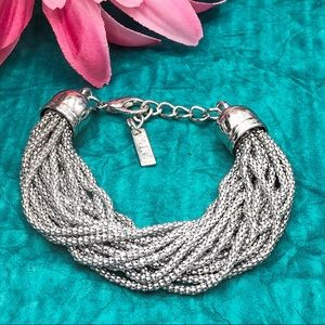🍀CLOSEOUT🍀 Layered Silver Chain Clasp Bracelet